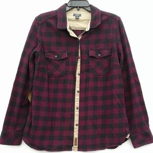 Roots flannel button up shirt